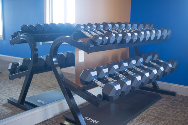 clubhouse gym weights